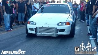 Download Mitsubishi Evo with bolt ons vs Turbo K20 Civic Hatch Video