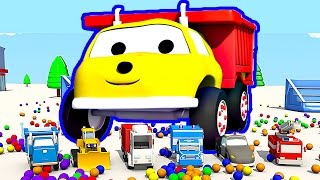 Download The Trampolines and the Cars : Learn Colors with Ethan the Dump Truck Video