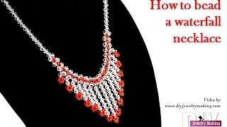 Download How to bead a waterfall necklace by DIY Jewelry Making Video