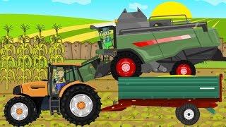 Download ☻ Maize - Farmers Works | Rolnik i Kukurydza | Rolnicy Bajka Dla Dzieci Kombajn Zielony ☻ Video