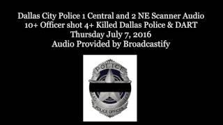 Download Dallas Police Scanner Audio 12 Officers shot 5 Killed Video