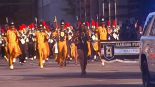 Download Alabama State Mighty Marching Hornets Band At The 2016 Magic City Classic Parade Video