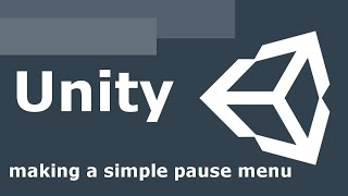 Download Unity 5 making a simple pause menu Video