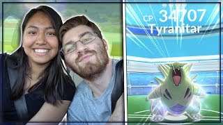 Download OUR FIRST LEVEL 4 TYRANITAR RAID BOSS IN POKEMON GO! Video