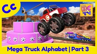 Download Mega Truck Alphabet Part 3 | Learn ABCs with Monster Trucks & More for Kids Video