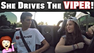 Download Girl Driving Manual Stick Shift Dodge Viper! Video