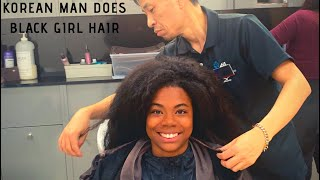 Download BLACK GIRL GETS NATURAL HAIR DONE IN SOUTH KOREA 🇰🇷🇰🇷🇰🇷 (shocking results) Video