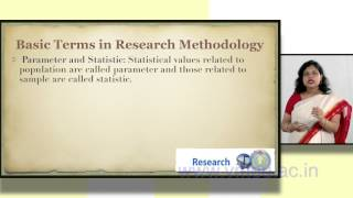 Download BASIC TERMS IN RESEARCH METHODOLOGY | Dr. Shuchi Singhal Video