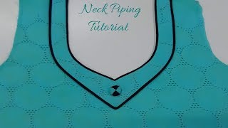 Download Piping Neck Design Tutorial | Shaheen Tailors Video