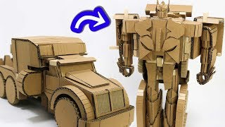 Download Cardboard DIY Speed Change TRANSFORMERS  スピードチェンジ、トランスフォーマー作った! Video