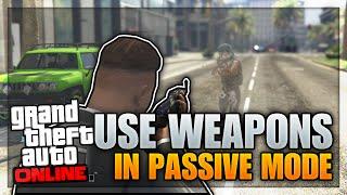 Download GTA 5 Glitches - SHOOT IN PASSIVE MODE (GTA 5 Use Weapons In Passive Mode Glitch Online) Video