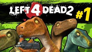 Download Left 4 Dead 2 - Dinosaur Raptor Mod| We Suck | Ep1 Video