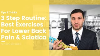 Download The best exercises for lower back pain & sciatica. Here's a great three-step routine for you! Video
