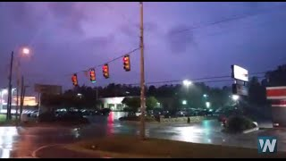 Download Lightning Packed Severe Storm Hits Alabama Video