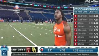 Download Robert Griffin JR (RG3)(Quarterback) Runs A 4.38 In The 40 Yard Dash At The NFL Combine! Video