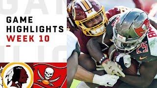 Download Redskins vs. Buccaneers Week 10 Highlights | NFL 2018 Video