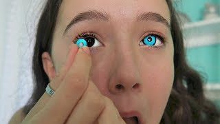 Download I Try 4 Creepy & Creative COLOR Contact Lenses ... See The Looks! FionaFrills Video