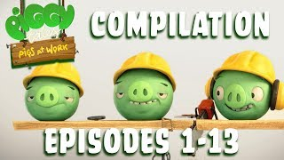 Download Angry Birds | Piggy Tales | Pigs at Work - Compilation Ep1-13 Video