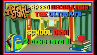 Download Animal Jam: Speed Decorating The Ultimate School Den! (Combining 2 Dens Into 1!) Video
