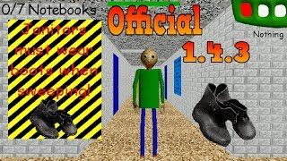 Download OFFICIAL UPDATE 1.4.3 ,New Item in Baldi Basics in Education & Learning Video