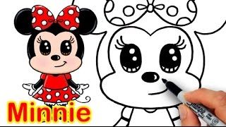 Download How to Draw Disney Minnie Mouse Cute step by step Easy Video
