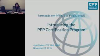 Download Introducing the PPP Certification Program: Jyoti Bisbey, World Bank Group, Video