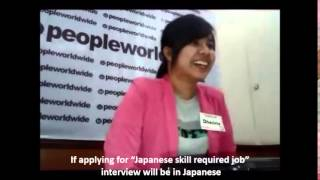 Download Interview for Jobs in Japan / PeopleWorldwide Co.,Ltd Video
