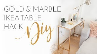 Download GOLD & MARBLE IKEA TABLES HACK DIY | Bang On Style Video