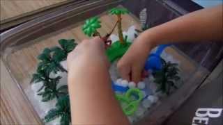 Download Toddler & Preschooler DIY Activity Idea - Sensory Box (Beach Theme) Video