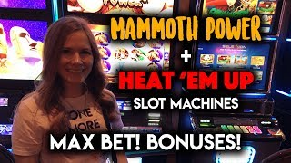 Download Heat Em UP + Mammoth Power Slot Machines! Max Bet! BONUS! Video
