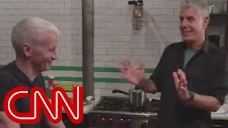 Download Anthony Bourdain cooks Korean food for Anderson Cooper Video