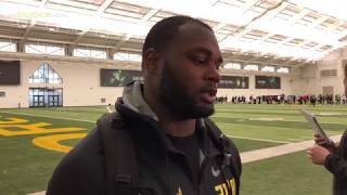 Download Royce Freeman on Drill Specific Work Out at Pro Day Video