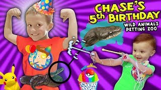 Download Chase's Wild Animals 5th BIRTHDAY PARTY w Snakes, Pokemon & Silly String Battle FUNnel Vision Video