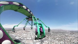 Download VR 360° Video | 4K! | Stratosphere Extreme Thrill rides!! Las Vegas, Nevada, USA Video