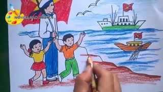 Download Vẽ tranh Biển đảo/How to Draw Sea Island Video
