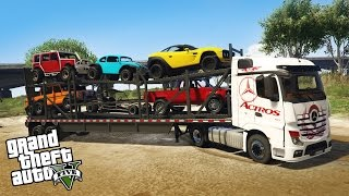 Download LOADING AND HAULING 4x4 OFF-ROAD VEHICLES! Semi Truck Off-Road Hauling & Mudding (GTA 5 PC Mods) Video