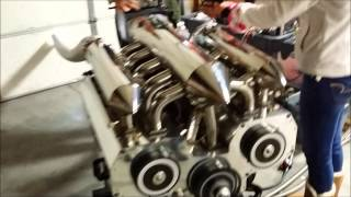 Download 12 Rotor Engine Running- Different Angles Video