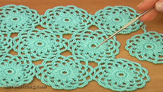 Download Crochet Circle Motif Joining Tutorial 10 Part 2 of 2 Video