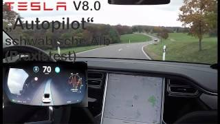 Download Tesla ″Autopilot″ 8.0: Albrundfahrt mit dem Model X Video