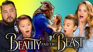Download KIDS/PARENTS REACT TO BEAUTY AND THE BEAST TRAILER Video
