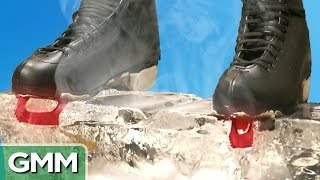 Download 1500 Degree Hot Ice Skates vs. Ice Block Video