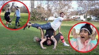 Download GIRLFRIEND TEACHES US ACROBATICS!! Video