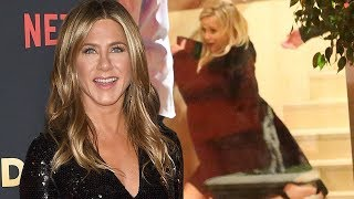 Download Jennifer Aniston's 50th Birthday Was Wild! From Brad Pitt's Surprise Cameo to Reese's Fall! Video