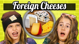 Download KIDS EAT FOREIGN CHEESES! | Kids Vs. Food Video