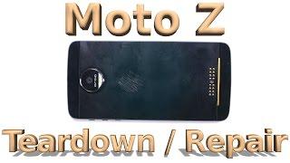 Download Moto Z Teardown - Screen Repair - Battery Replacement Video