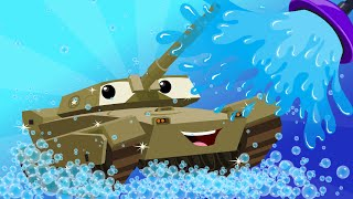 Download army tank | kids car wash | car cartoon for children | kids channel | videos for kids Video