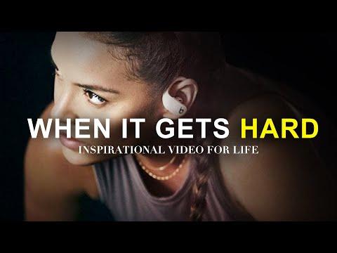 WHEN IT GETS HARD - Morning Motivation *must hear* Inspirational Speech