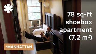 Download Manhattan shoebox apartment: a 78-square-foot mini studio Video