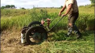 Роторная косилка своими руками-4   Тест драйв  Homemade rotary mower