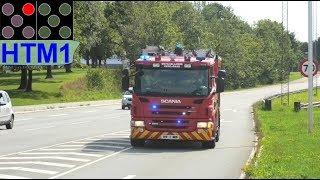 Download østsjællands beredskab falck HLF HTM5 brandbil i udrykning feuerwehr auf einsatzfahrt 緊急走行 消防車 Video